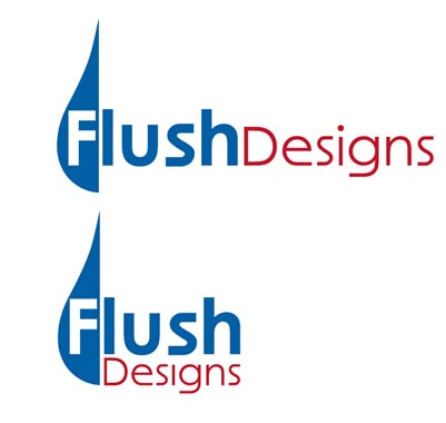 flushdesigns logo, 2 variations